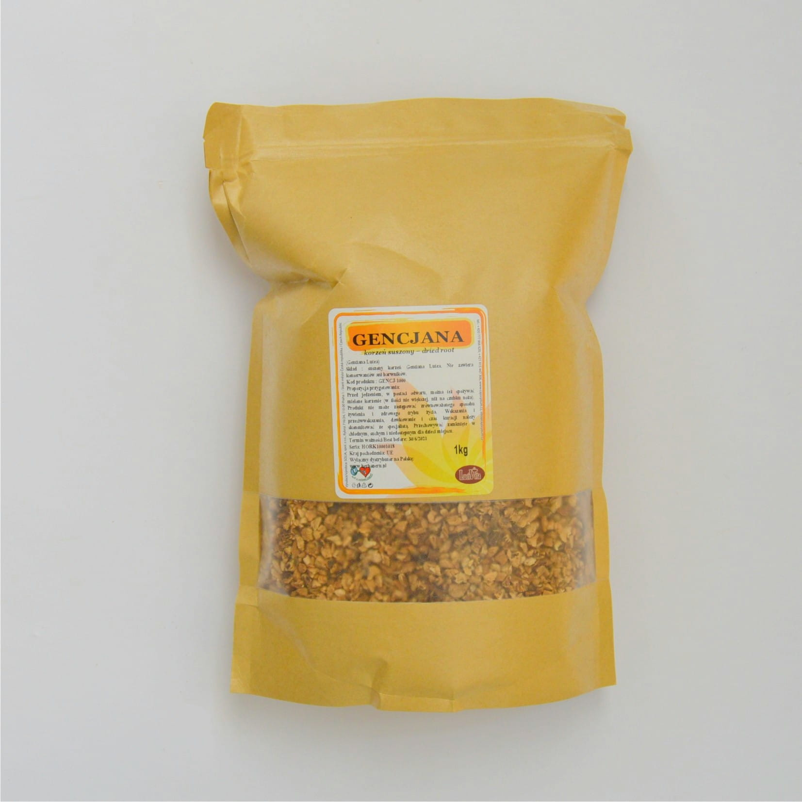 Great yellow gentian - root - 1000g (1kg)
