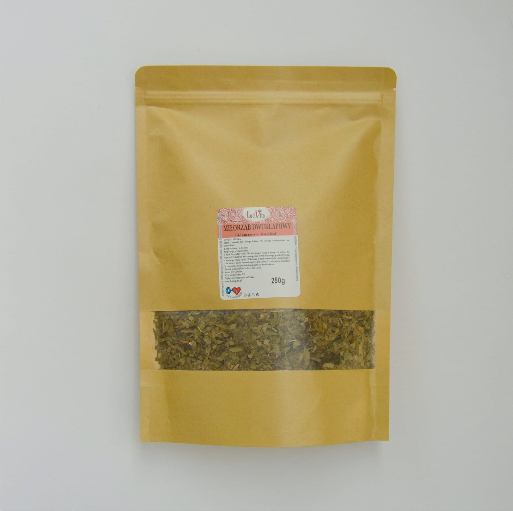Ginkgo Biloba - dried leaves - 250g