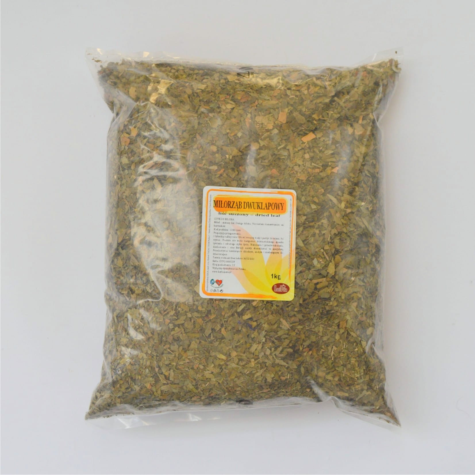Ginkgo Biloba - dried leaves - 1000g (1kg)