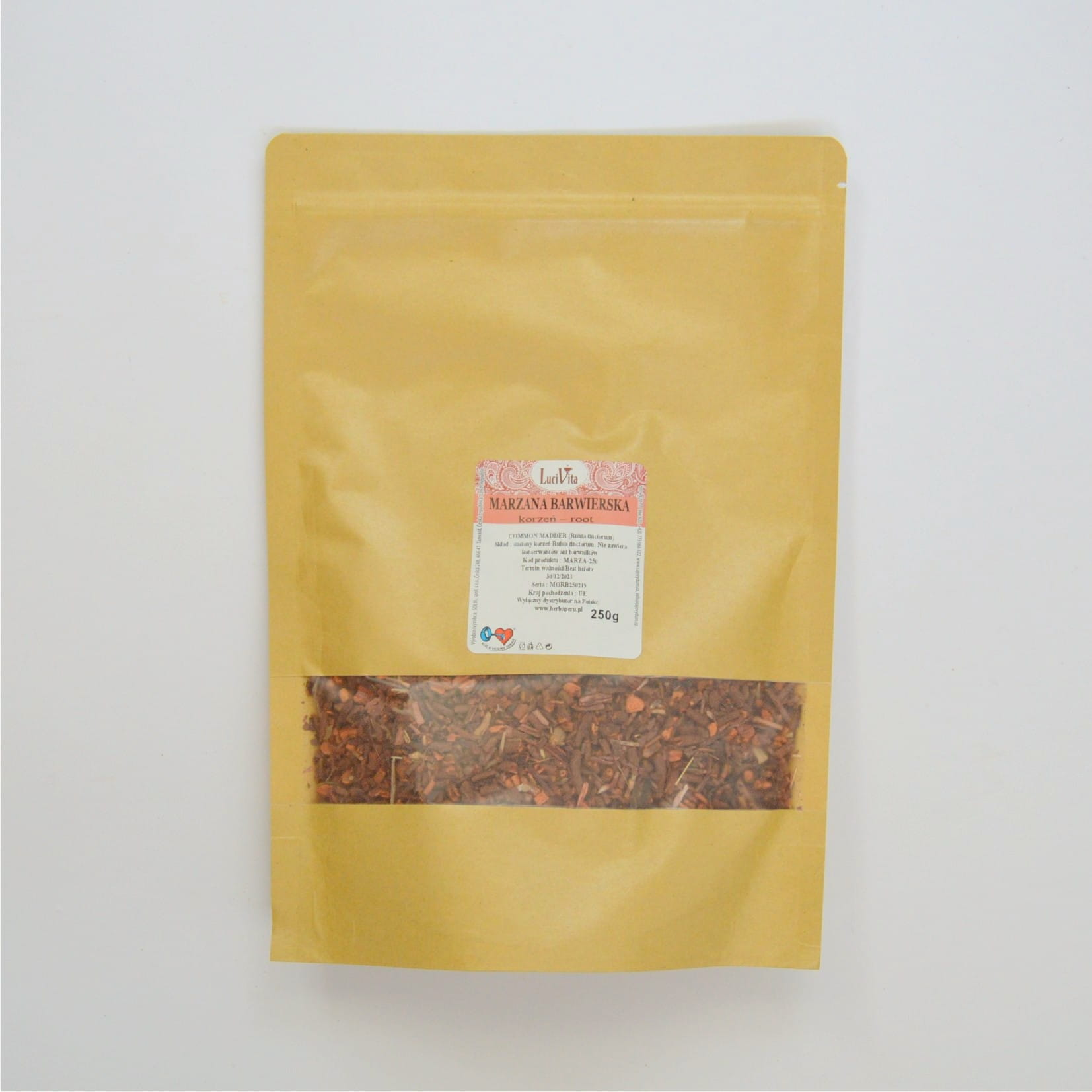 Common madder (dyer's madder) - dried root - 250g