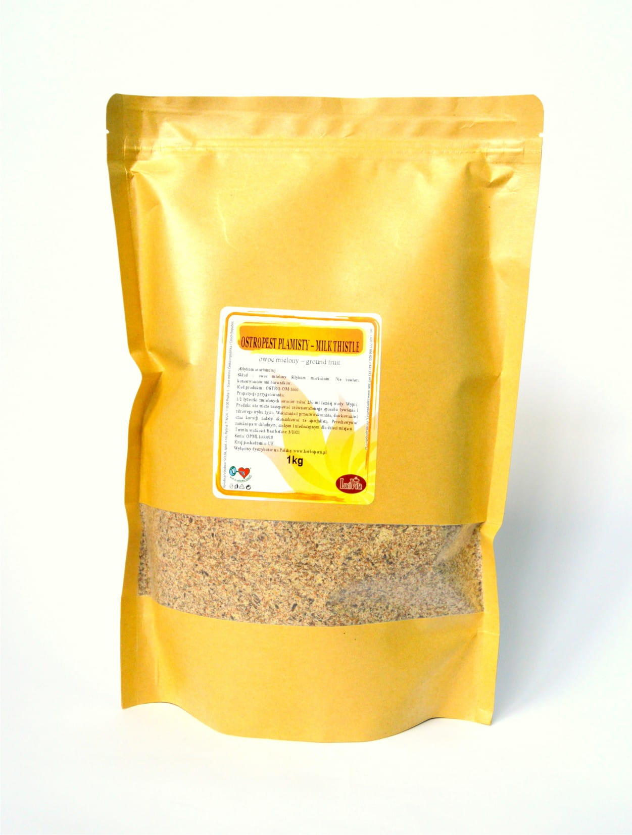 Milk (Marian) thistle - ground fruit - 1000g (1kg)