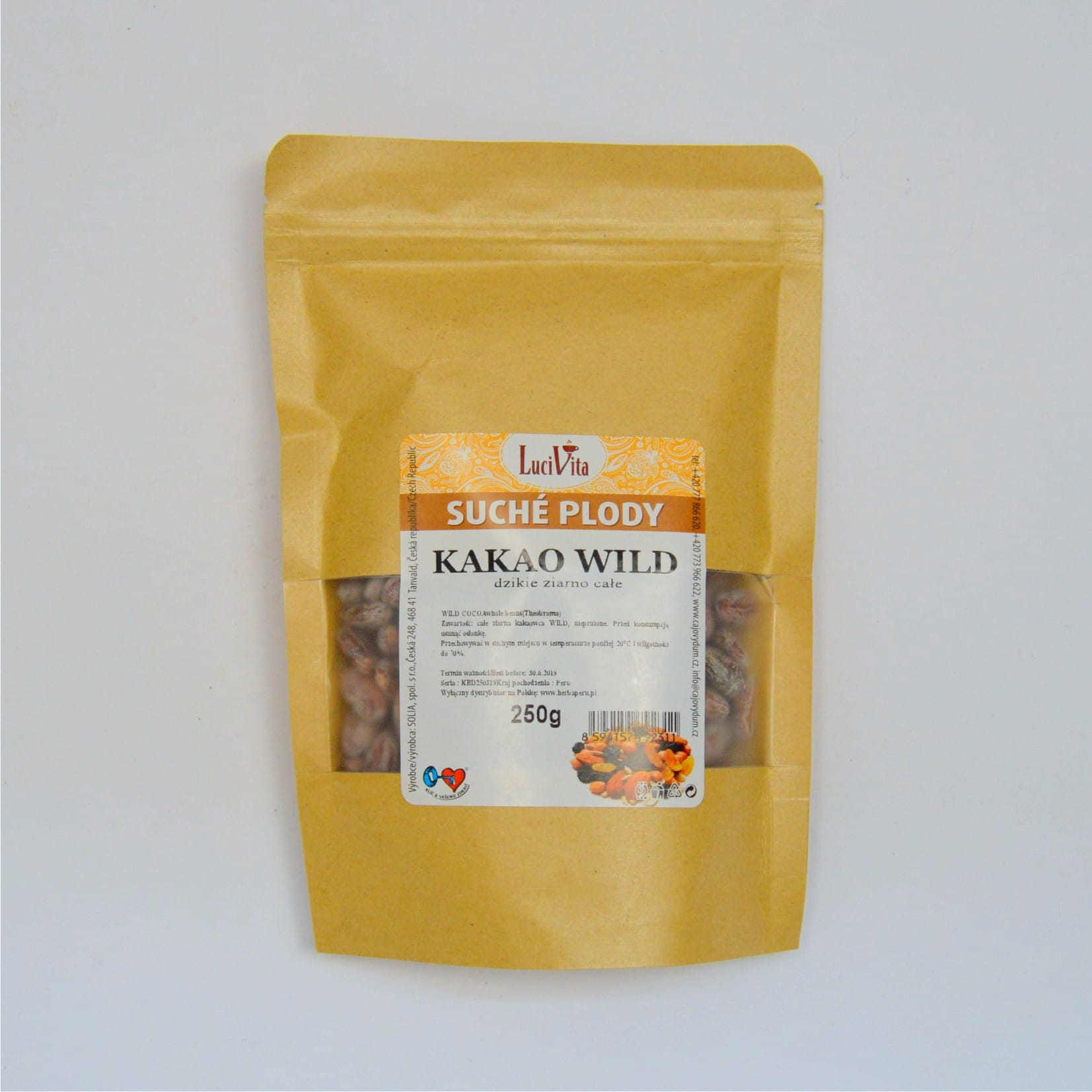 Cocoa beans - WILD - whole - 250g