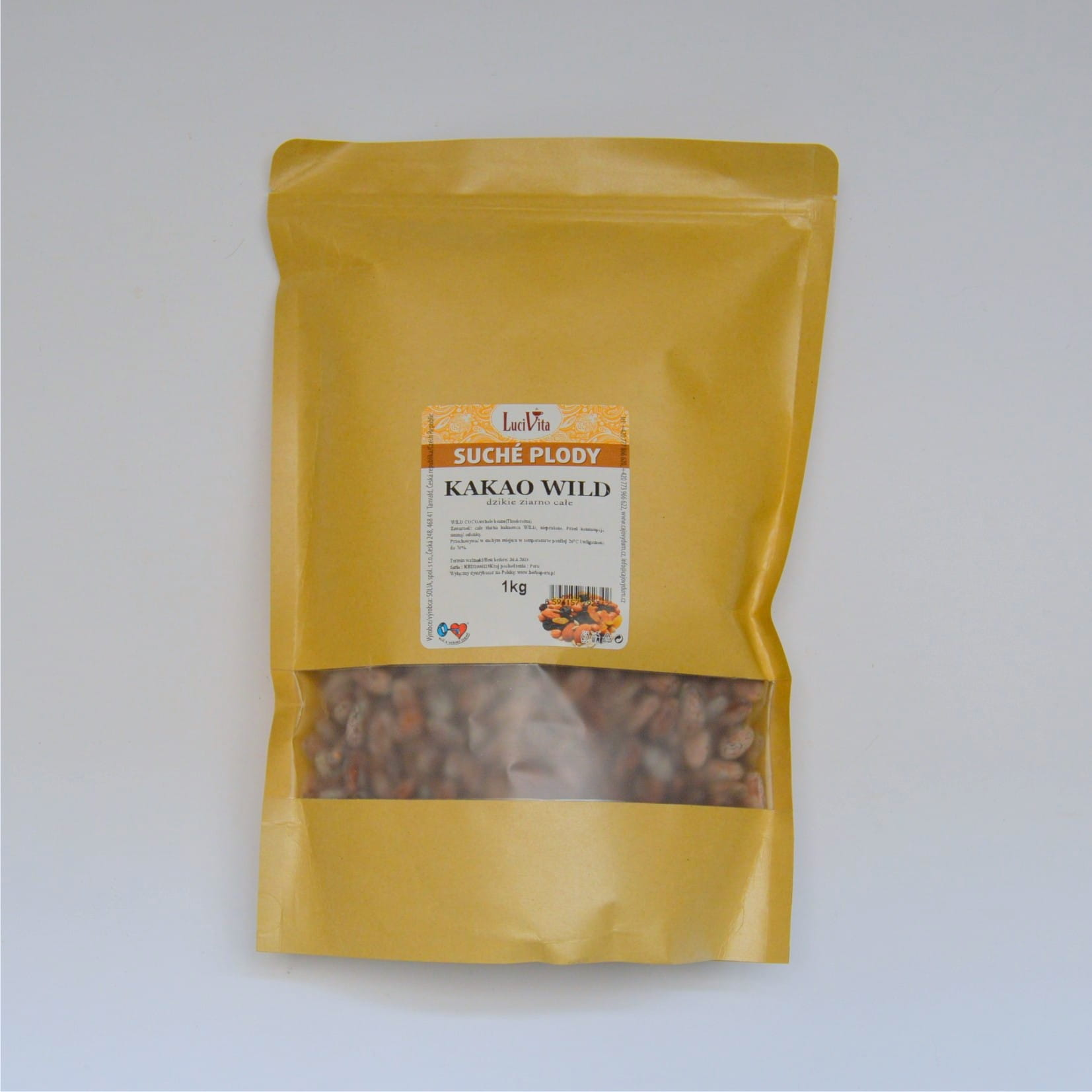 Cocoa beans WILD - whole - 1000g (1kg)