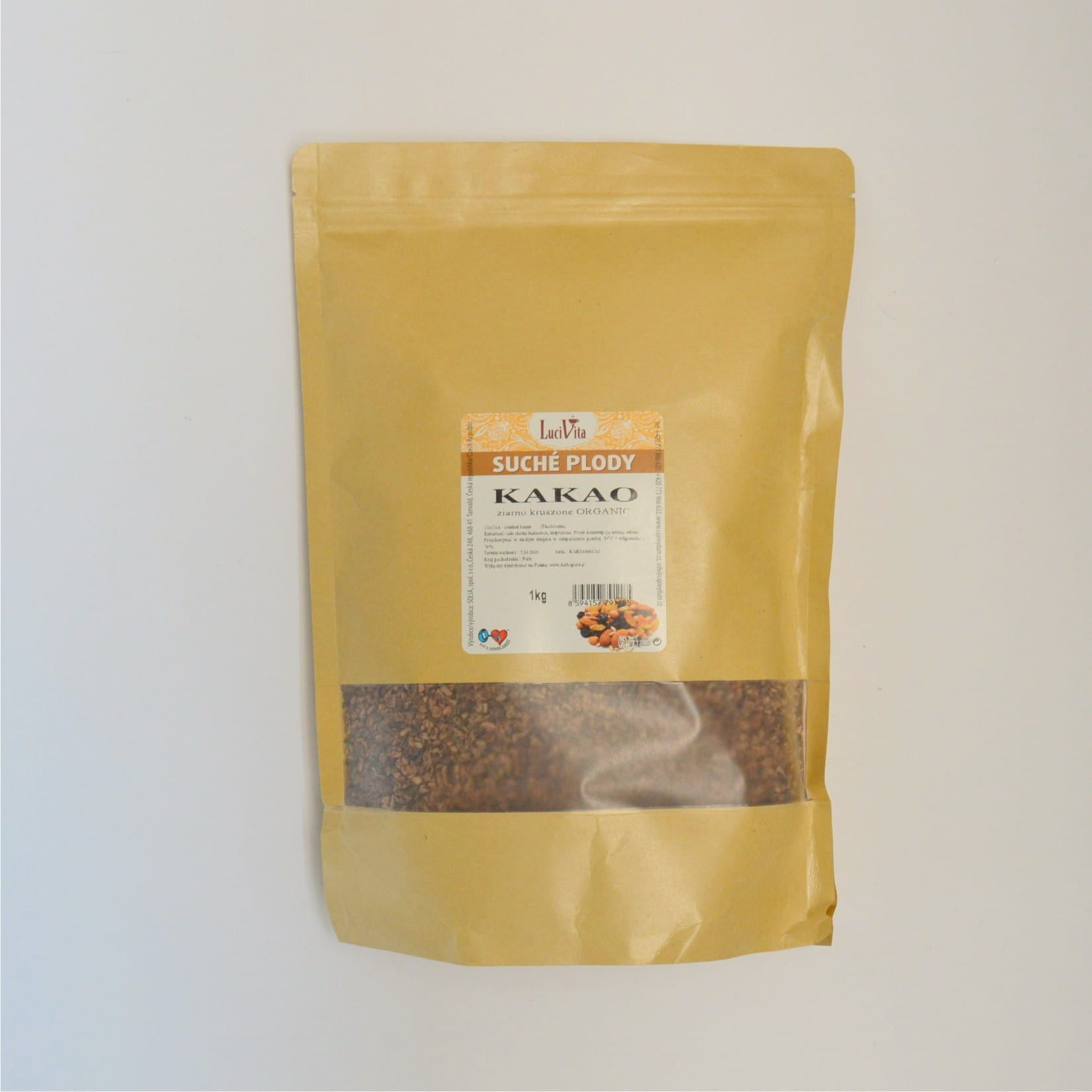 Cocoa Beans - crushed - ORGANIC - 1000g (1kg)