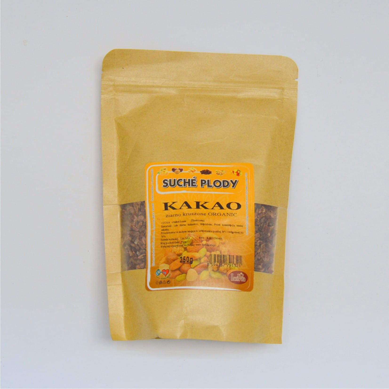Cocoa beans - crushed - ORGANIC - 250g