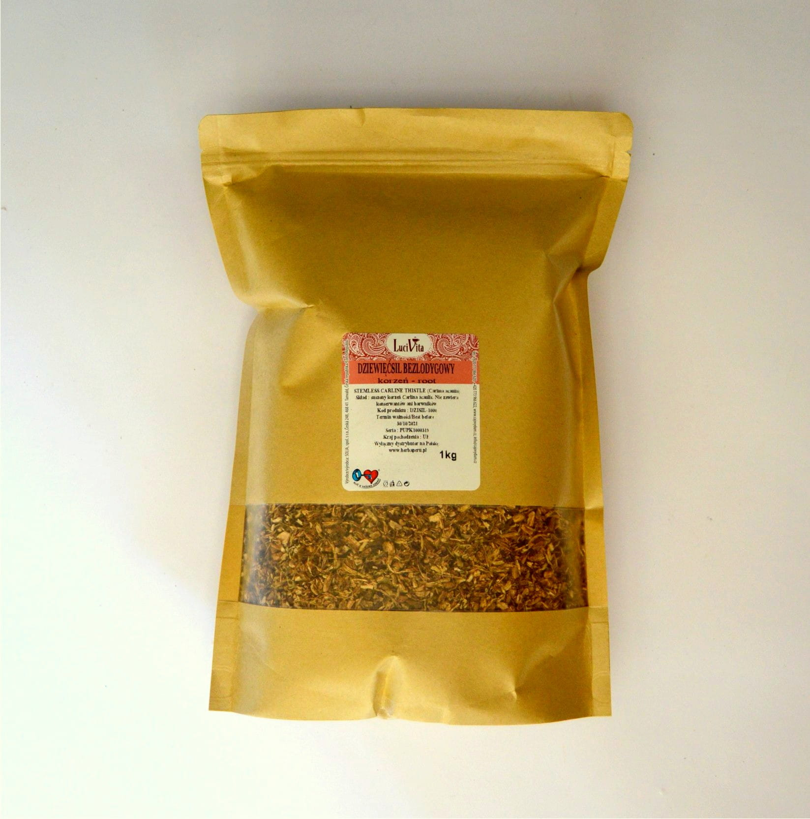 Stemless carline thistle - root - 1000g (1kg)