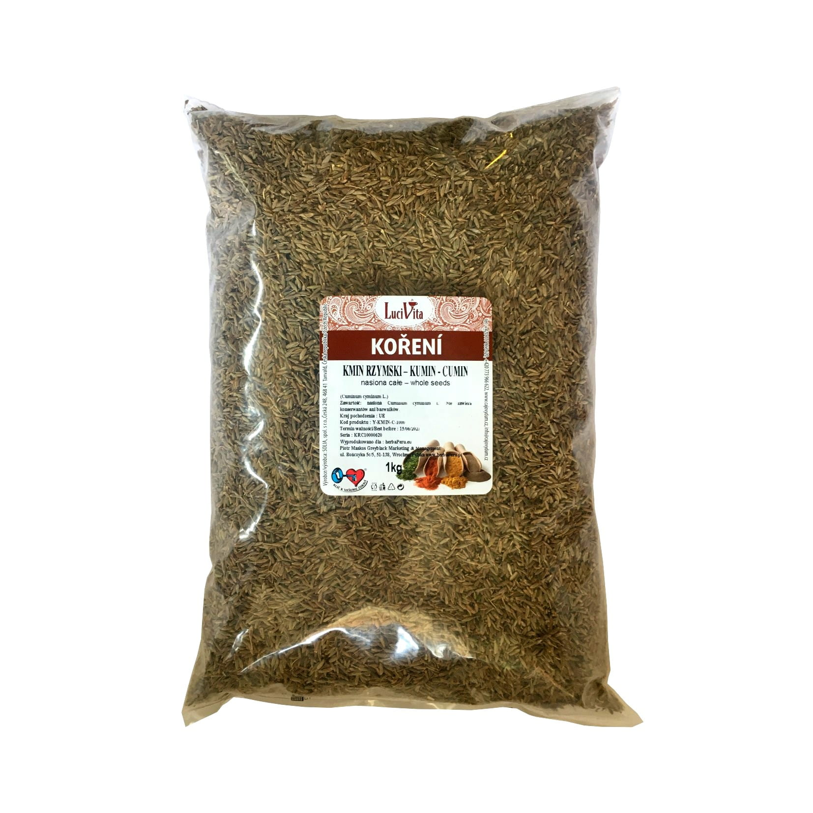 Cumin - whole seeds - 1000g (1kg)