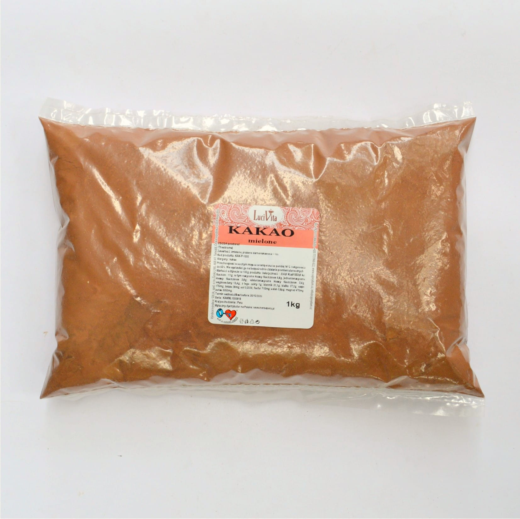 Cocoa beans - powdered - 1000g (1kg)
