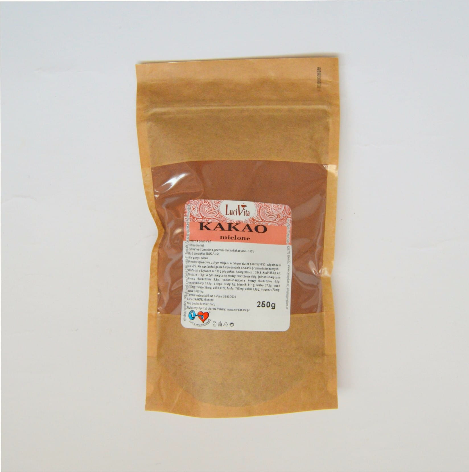 Cocoa beans - powdered - 250g