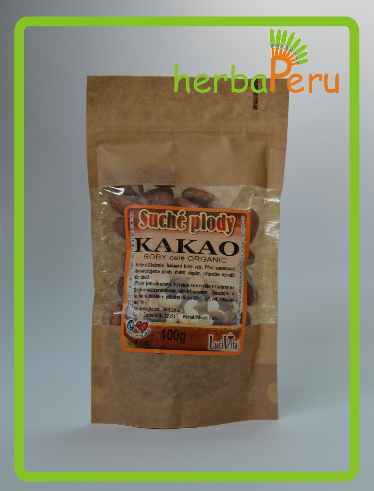 Cocoa beans - whole - ORGANIC - 100g