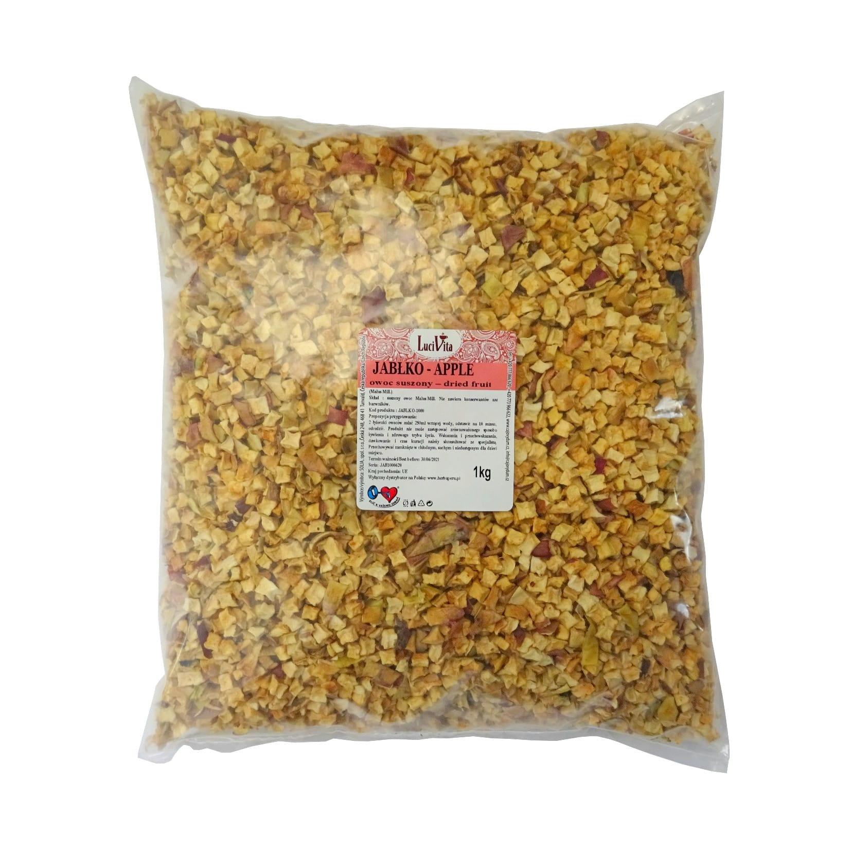 Apple - dried fruit cubes - 1000g (1kg)