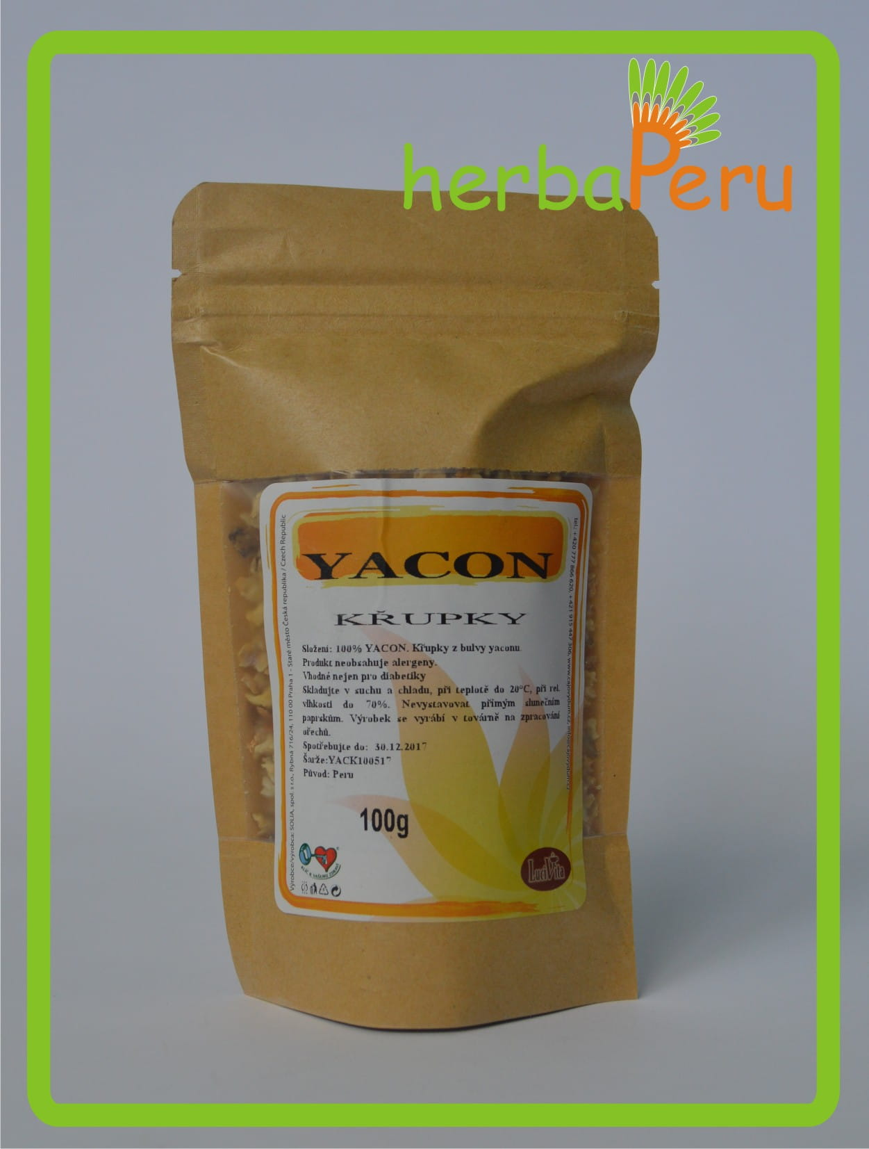 Yacon - root snacks - 100g